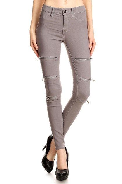 SUPER STRETCH PANTS WITH ZIPPERS - orangeshine.com