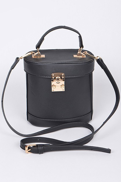 Push Lock Iconic box Crossbody Clutc - orangeshine.com