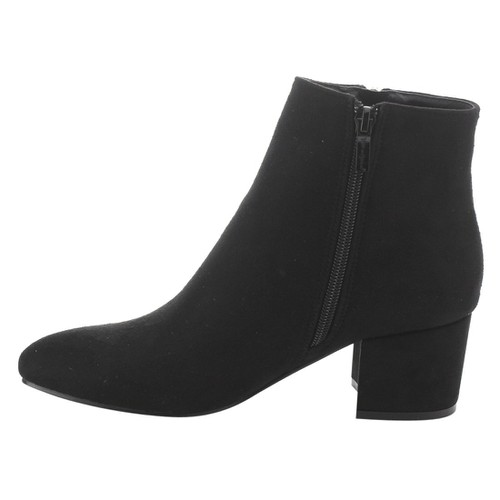Pointed Toe Stacked Heel Booties - orangeshine.com