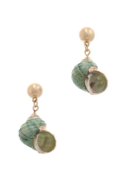 SEASHELL POST DROP EARRING - orangeshine.com