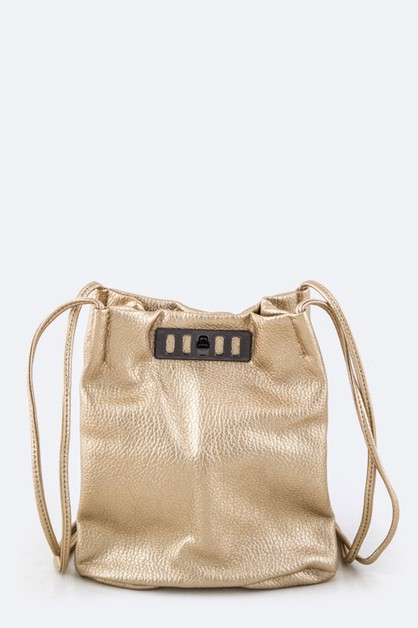 Double Strap Twist Lock Crossbody Sw - orangeshine.com
