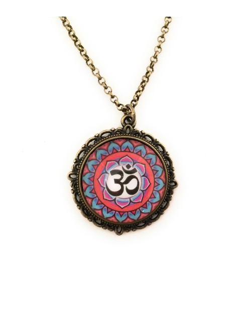 Ohm with Pink and Blue Lotus  - orangeshine.com