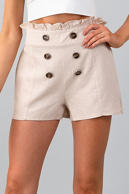 DOUBLE BUTTON PAPER BAG SHORTS - orangeshine.com
