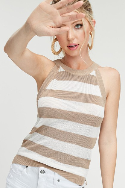 lightweight soft viscose knit tank  - orangeshine.com