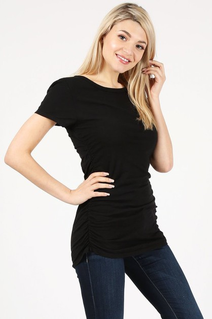 Side Shirring t- shirts - orangeshine.com