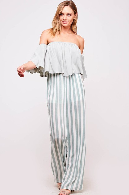 Striped palazzo pants  - orangeshine.com