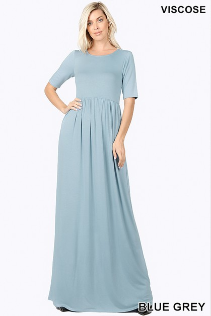 VISCOSE MAXI DRESS - orangeshine.com