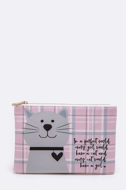 Cat Print Iconic Pouch - orangeshine.com