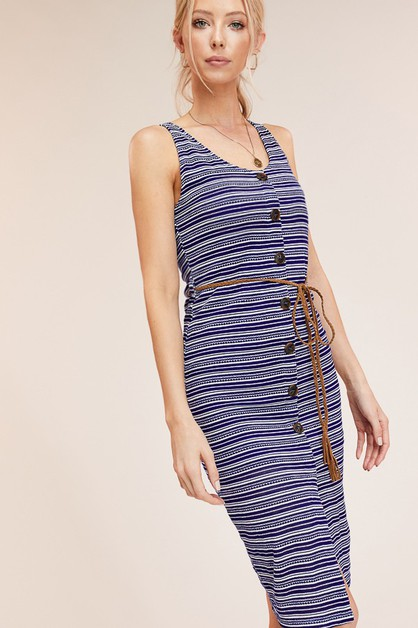 Sunny Stripe Body-con dress - orangeshine.com