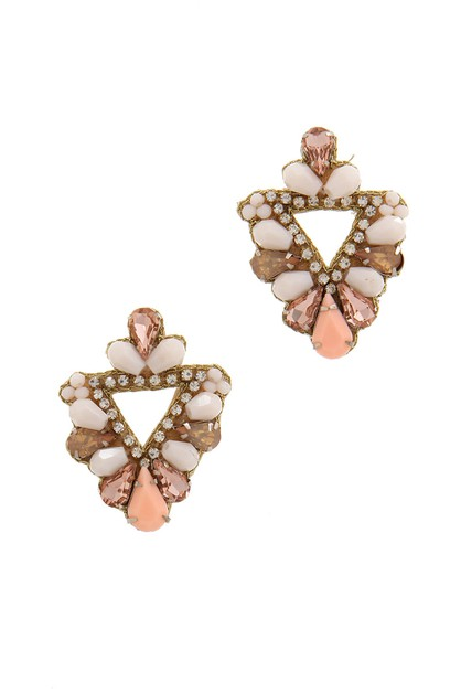 BEADED POST EARRIN - orangeshine.com