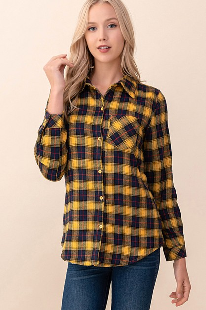 PLAID SHERPA SHIRT - orangeshine.com