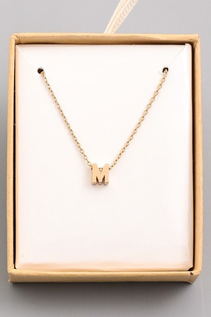 Alphabet M Necklace - orangeshine.com