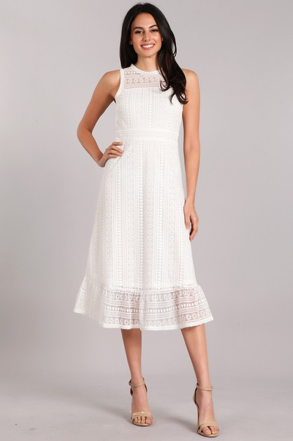 Lace Midi Dress - orangeshine.com