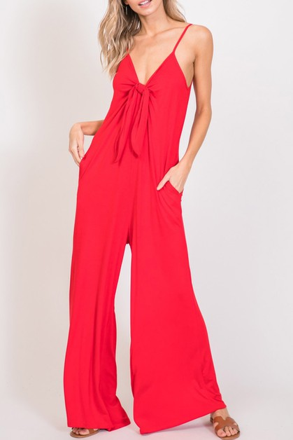 A Solid Knit Jumpsuit featuring - orangeshine.com