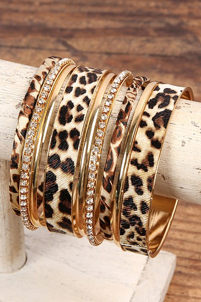 LEOPARD STACKABLE BANGLE BRACELET SE - orangeshine.com