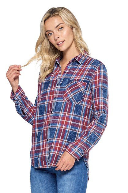 VINTAGE FLANNEL BUTTON SHIRTS - orangeshine.com