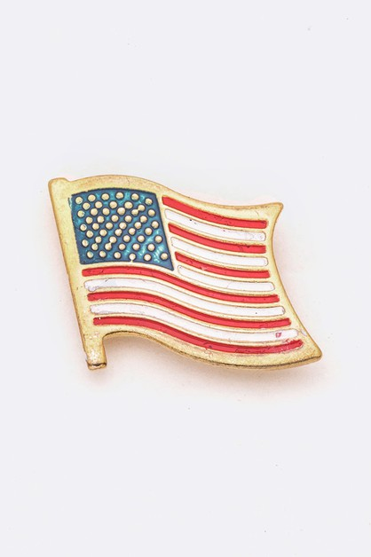 American Flag Pin Tag - orangeshine.com