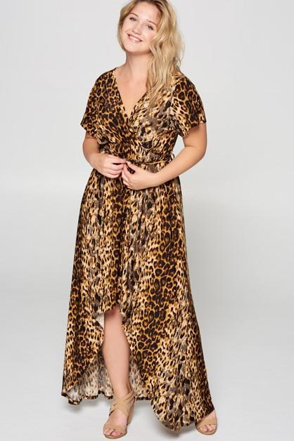 527ecb0fea9 Short Sleeve hI Low Maxi Dress - orangeshine.com