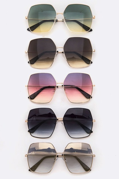 Iconic Gradient Oversize Sunglasses  - orangeshine.com