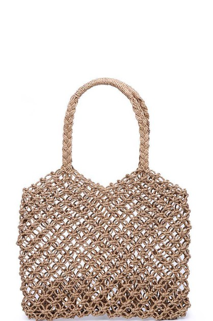 LUXURY MYKONOS WOVEN TOTE BAG  - orangeshine.com