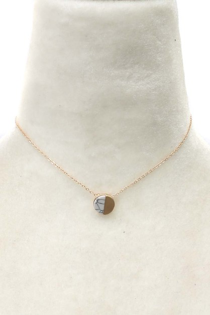 NATURAL STONE NECKLACE   - orangeshine.com
