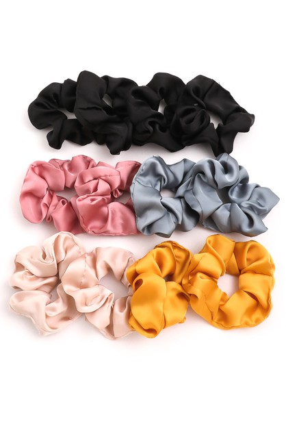 12 Piece Satin Scrunchie Set - orangeshine.com
