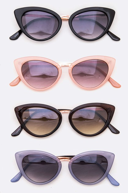 Cat Eye Acetate Frame Sunglasses - orangeshine.com