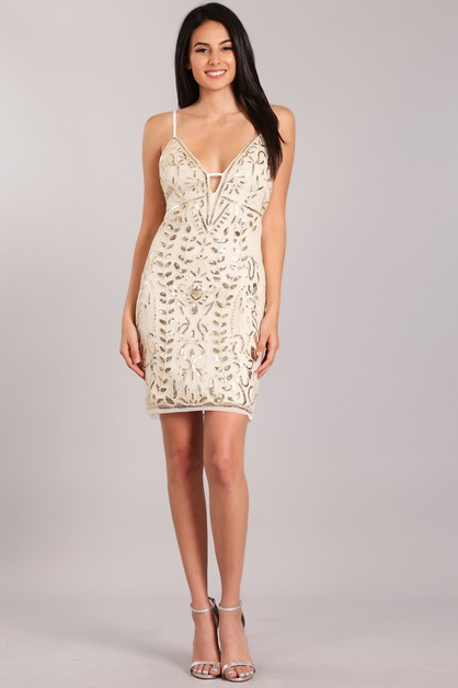 Sequin Short Dress - orangeshine.com
