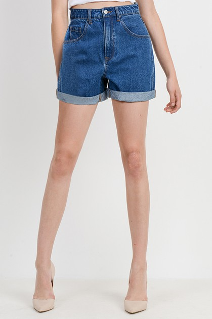 Basic Mom Shorts - orangeshine.com