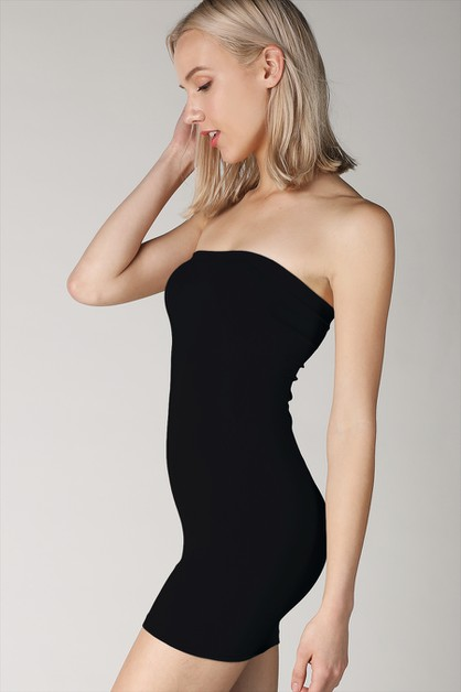 Tube Dress With Rib Band - orangeshine.com