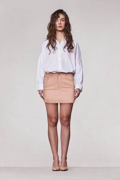 SIDE SLIT MINI SKIRT - orangeshine.com