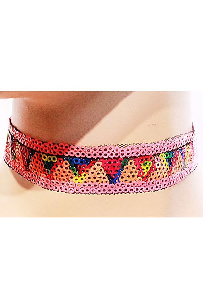 Geometric Pattern Choker Necklace Se - orangeshine.com
