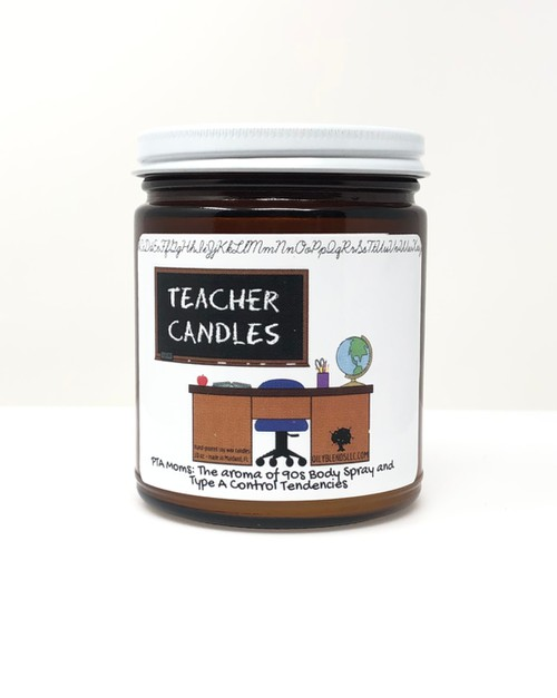 Soy Wax Funny Teacher Candles - orangeshine.com