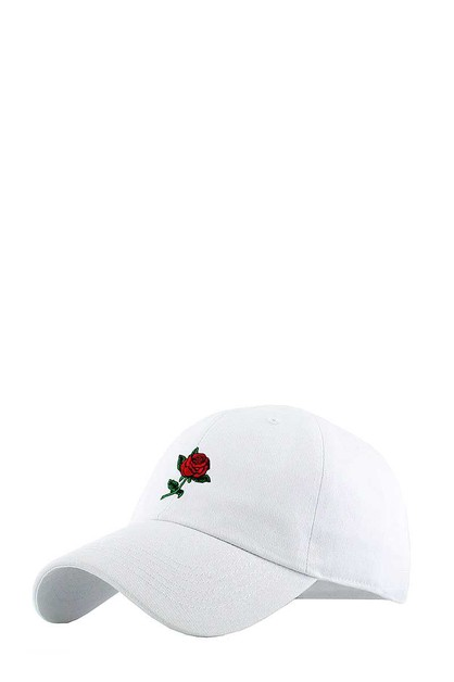 ROSE EMBROIDERY DAD BALLCAP - orangeshine.com
