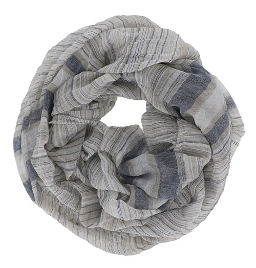 Navy Striped Infinity Scarf - orangeshine.com