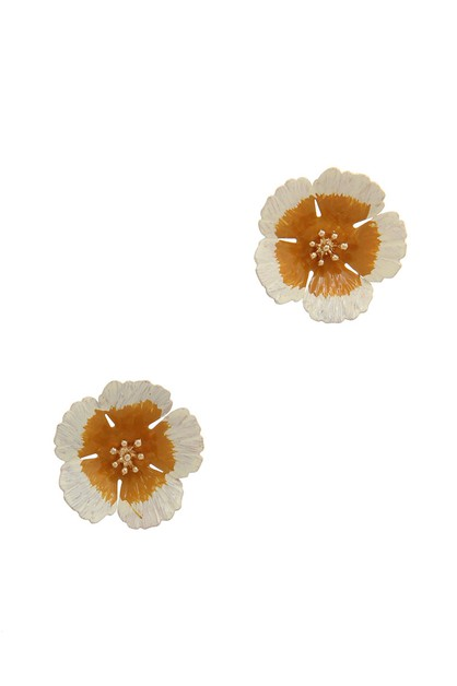 FLOWER POST EARRING - orangeshine.com
