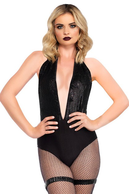 Fishnet Long Sleeved Bodysuit - orangeshine.com