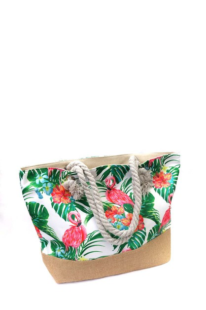 FASHION  PRINT BEACH BAG  - orangeshine.com