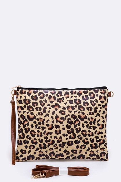 Leopard Print Convertible Swing Bag - orangeshine.com