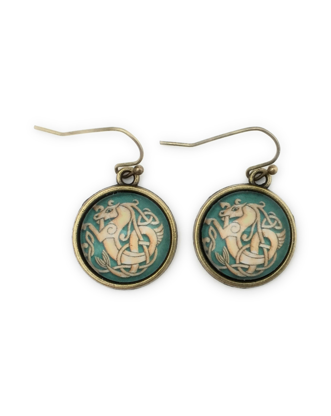 Celtic Knot Seahorse Earrings - orangeshine.com