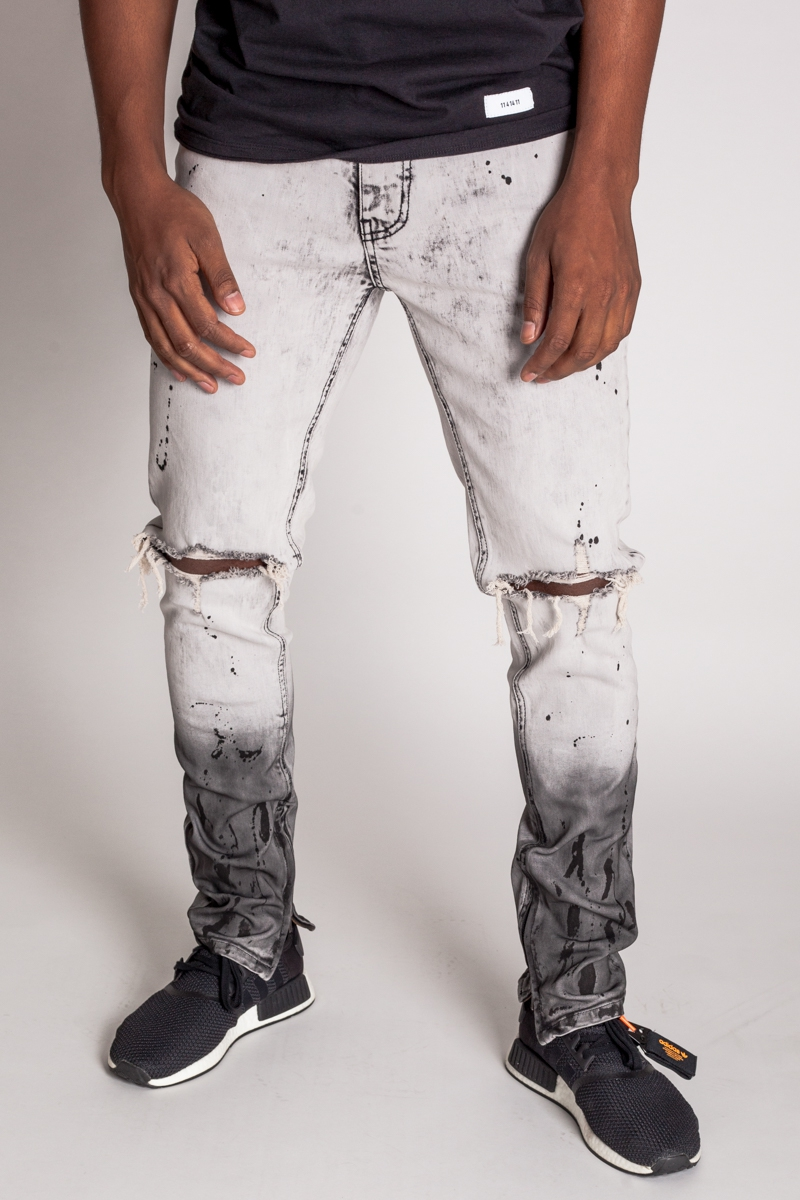 BLACK PAINT SPLATTER JEAN - orangeshine.com