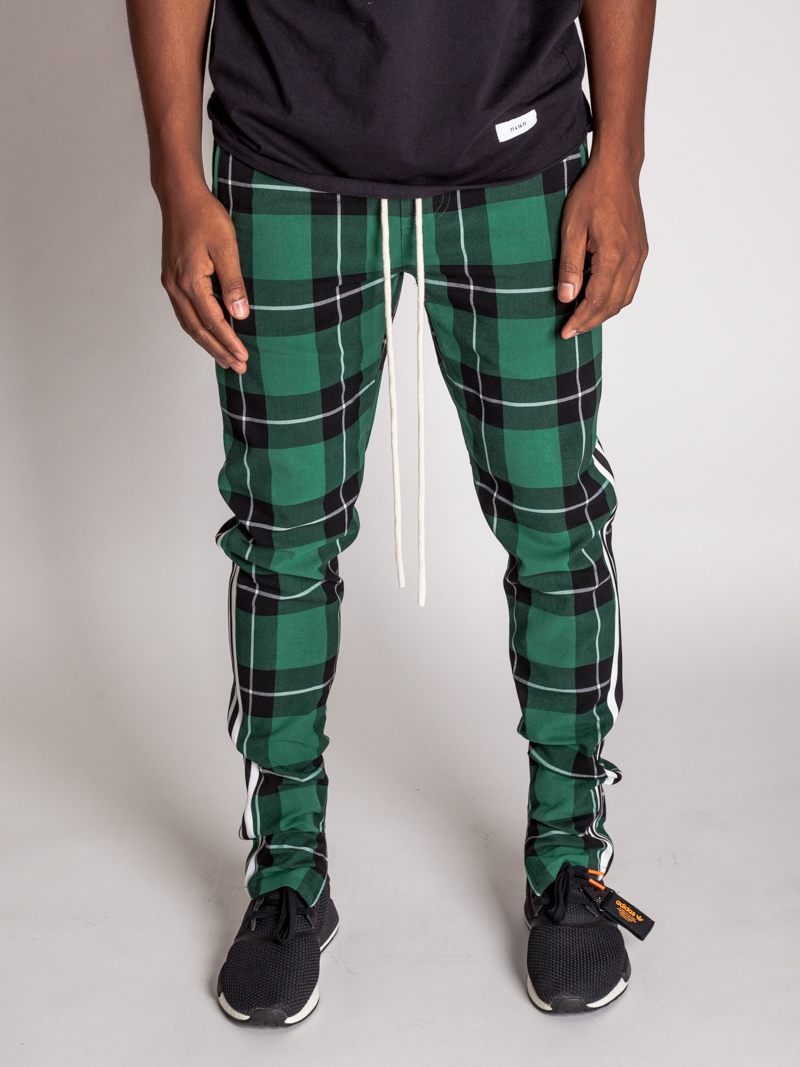 BWP PLAID TRACK PANTS - orangeshine.com