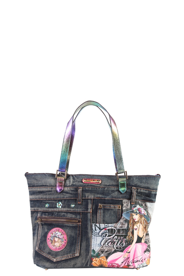 DENIM PARIS SHOPPER BAG - orangeshine.com