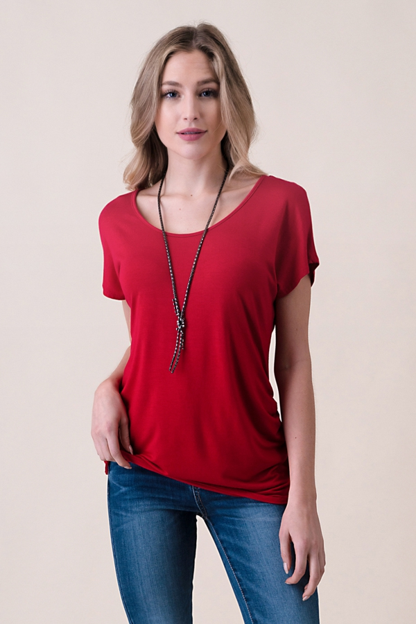 Dolman Sleeve Side Cinched Top - orangeshine.com