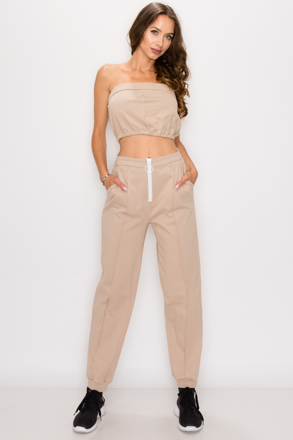 Cotton two piece tube top set - orangeshine.com