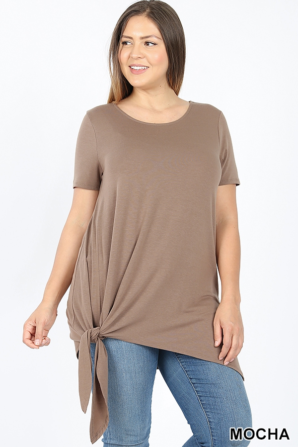 PLUS ASYMMETRICAL SIDE TIE TOP - orangeshine.com