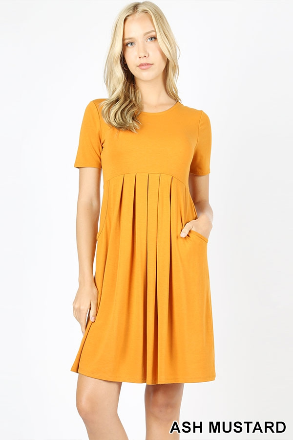 PREMIUM PLEATED WAIST DRESS - orangeshine.com