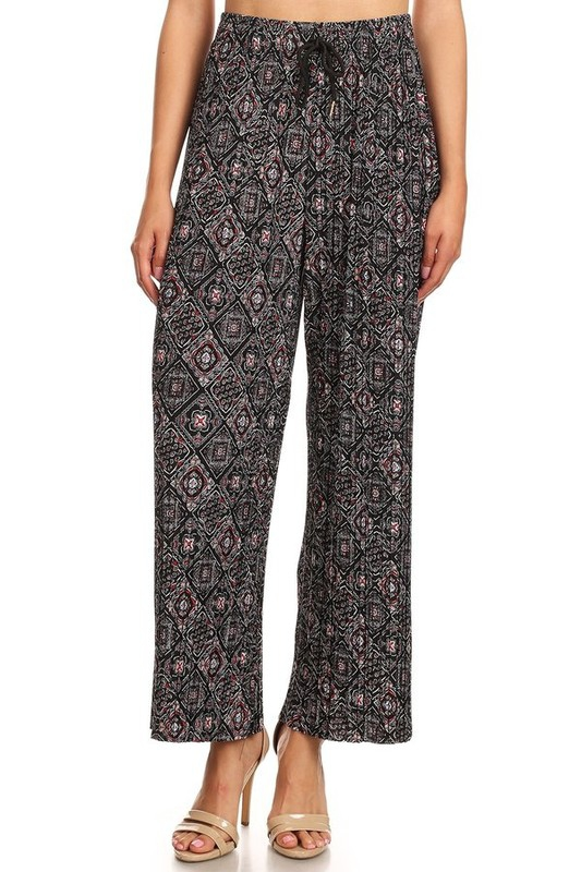 pleated palazzo pants with wide leg - orangeshine.com