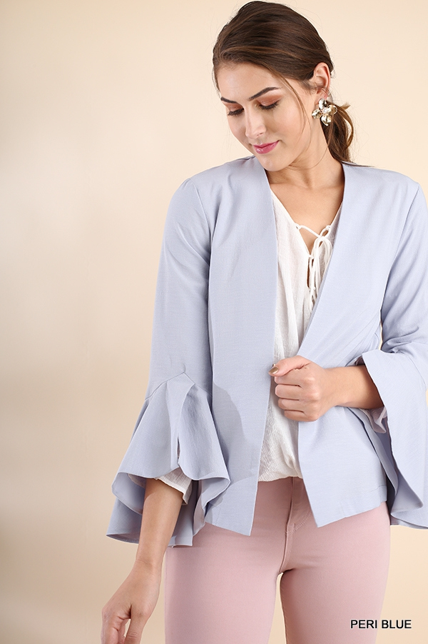 Bell Sleeve Light Jacket  - orangeshine.com