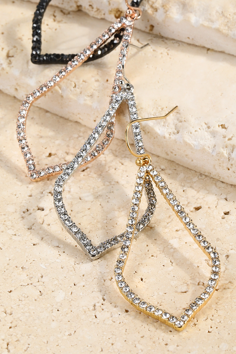Pave Marquee Earrings - orangeshine.com